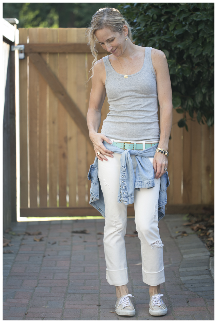 BlogDL1961 White Grey Tank Jean Shirt-4