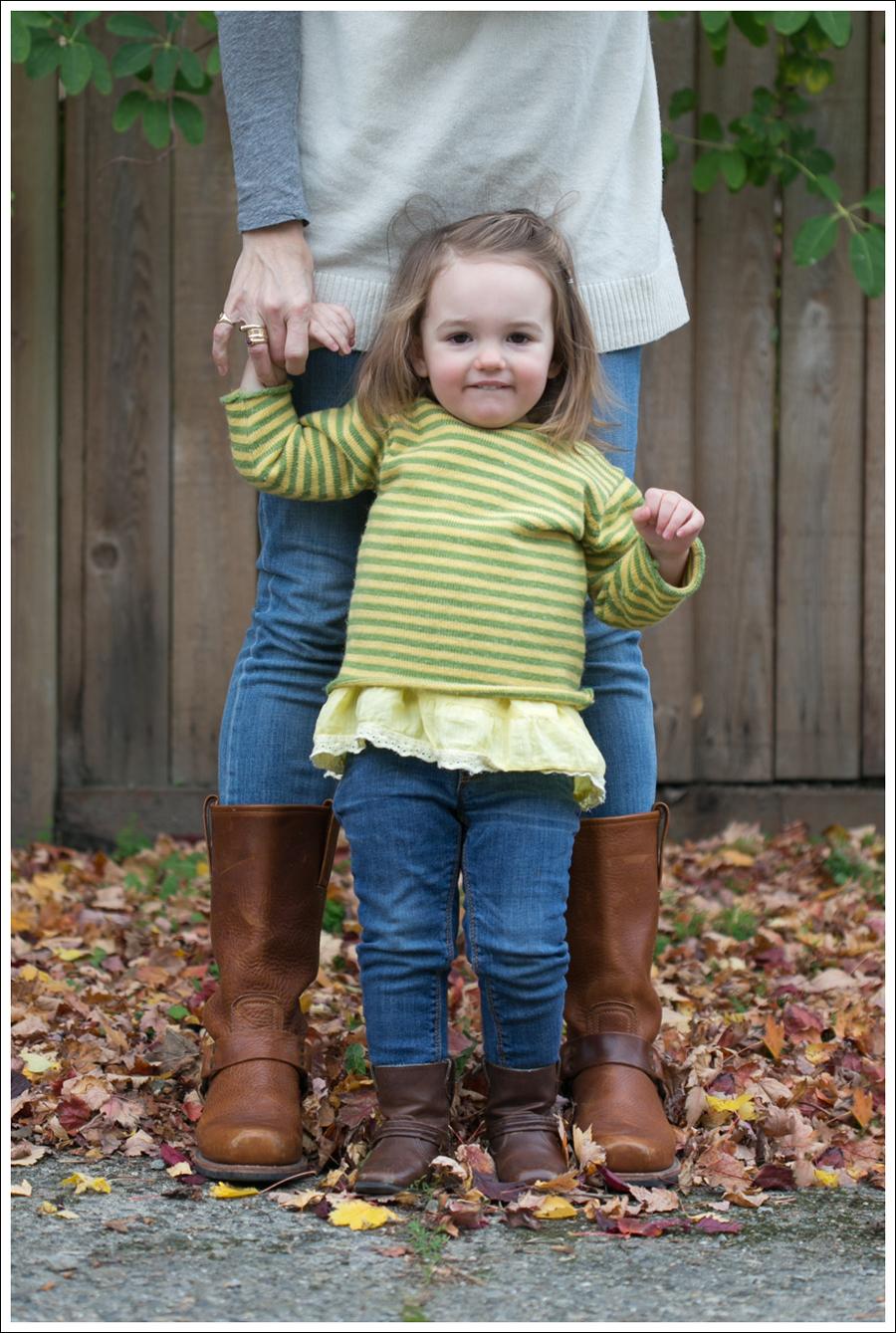 blog BCBG Sweater Genetic Denim Jeans Frye Harness Boots-5