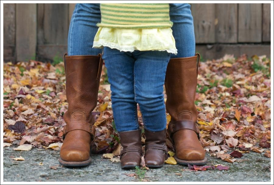 blog BCBG Sweater Genetic Denim Jeans Frye Harness Boots-6