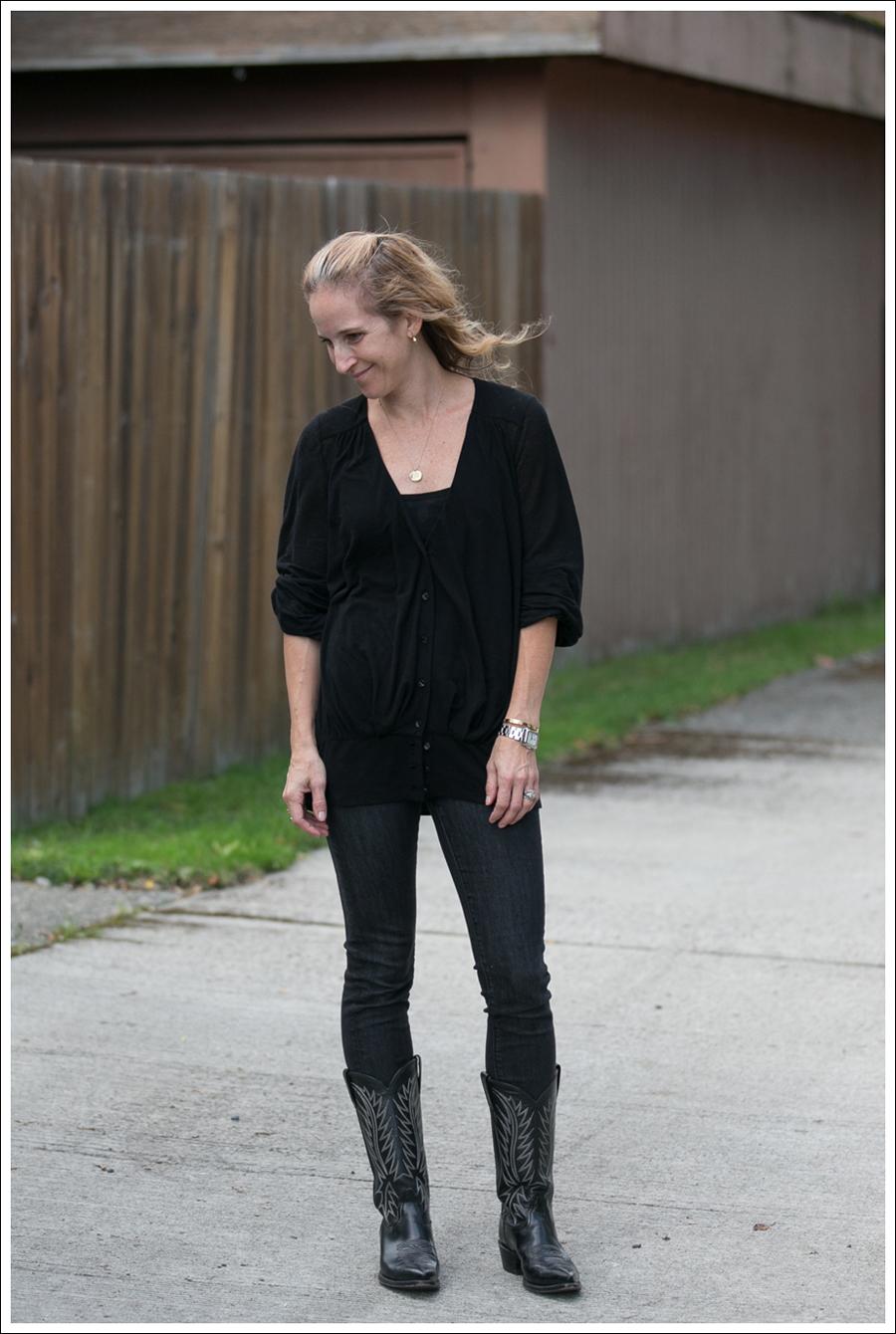 Blog Black leifsdottir cardigan Black AG jeans Boots-1