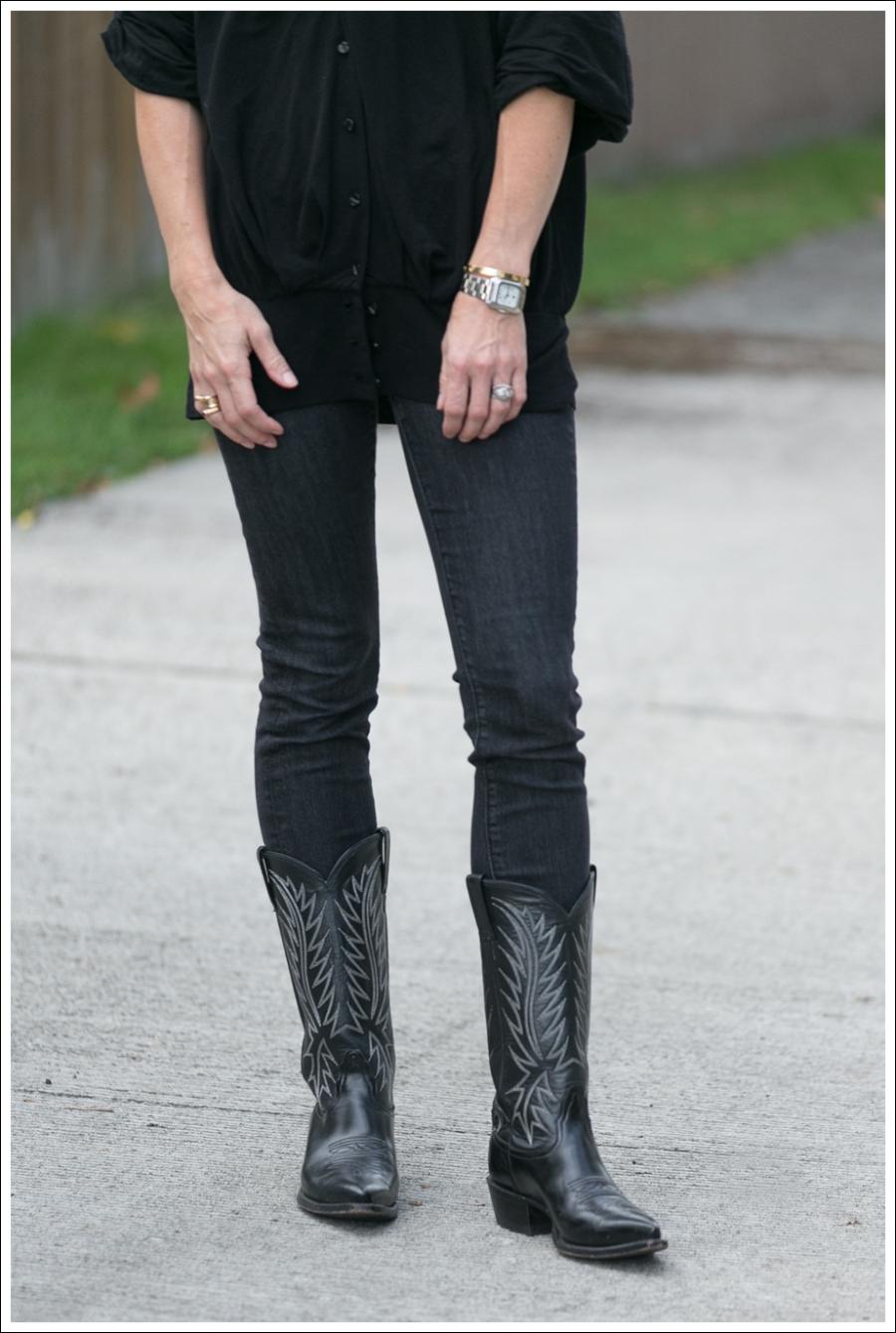 Blog Black leifsdottir cardigan Black AG jeans Boots-2