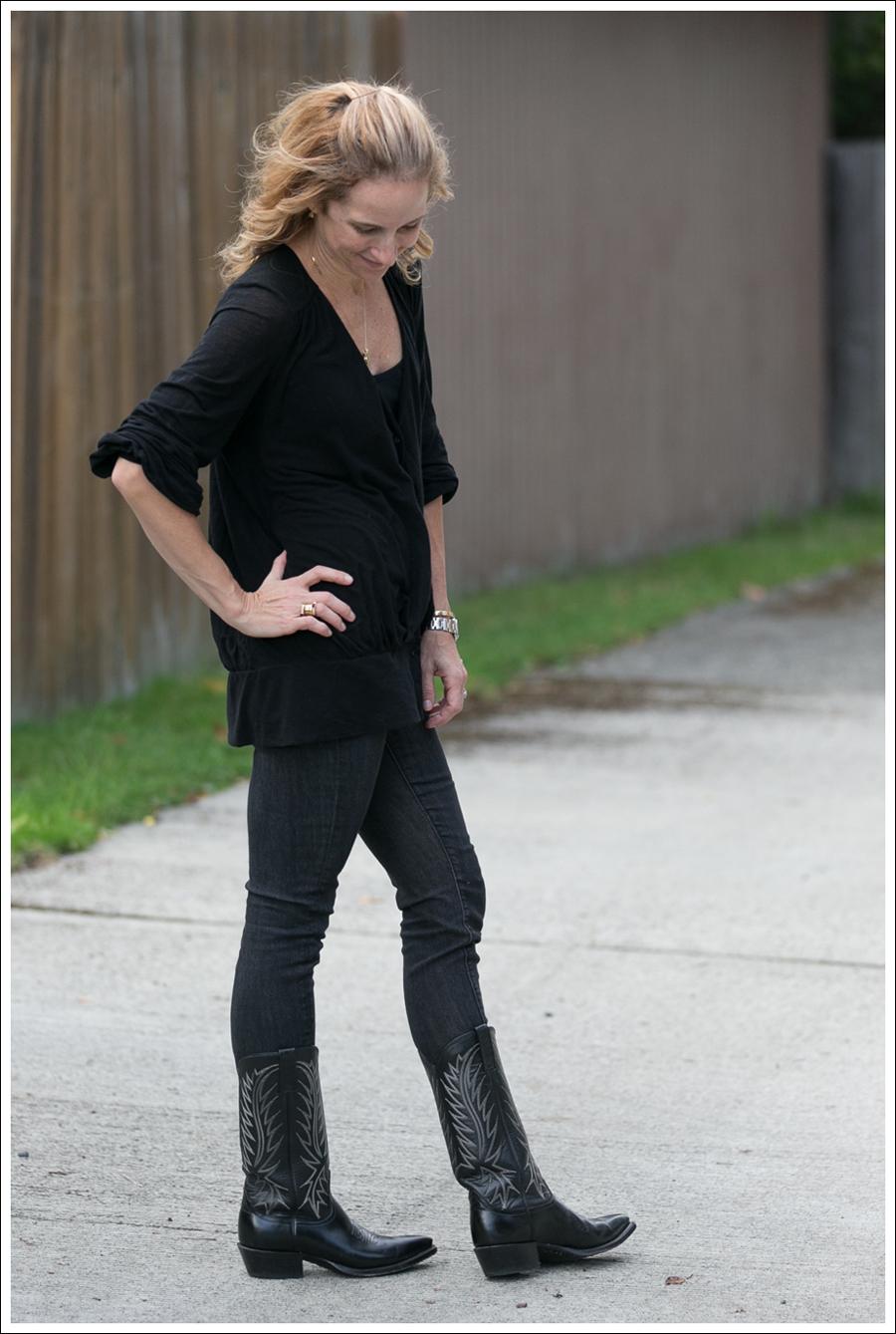 Blog Black leifsdottir cardigan Black AG jeans Boots-3
