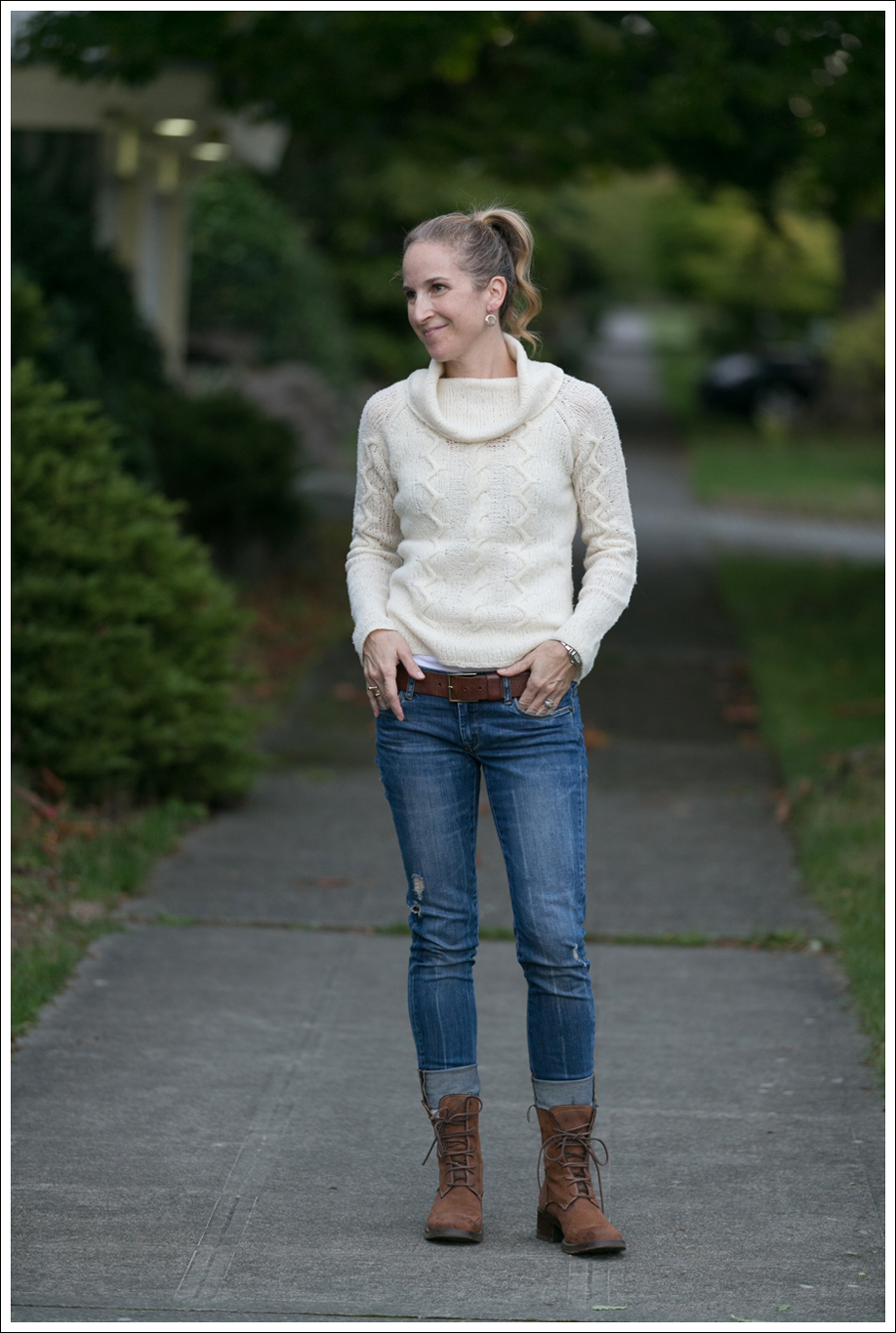 Blog Cream J Crew Sweater Destroyed Blank Lace up Boots-2
