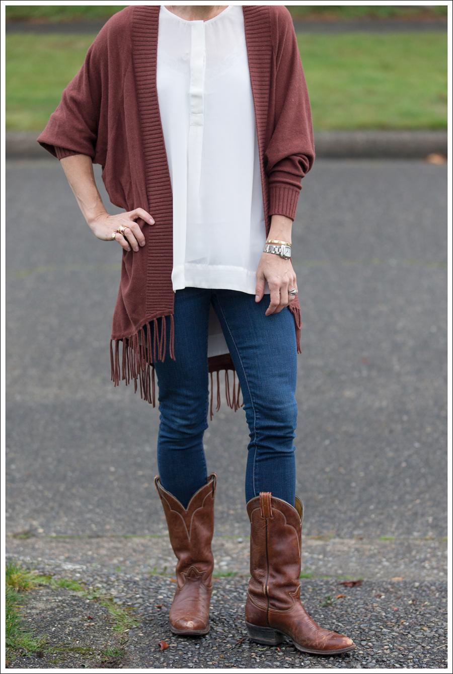 Blog Jamison Fringe Sweater J Brand Skinny Cowboy Boots-2