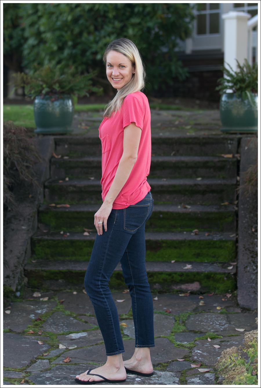 blog Pink Tee Gap Skinny-3