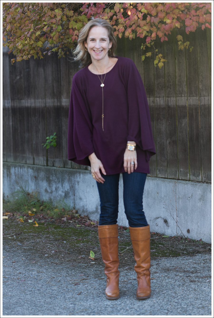 Blog Rachel Pally Cashmere Cape AG the Tights Vintage Frye Boots-1