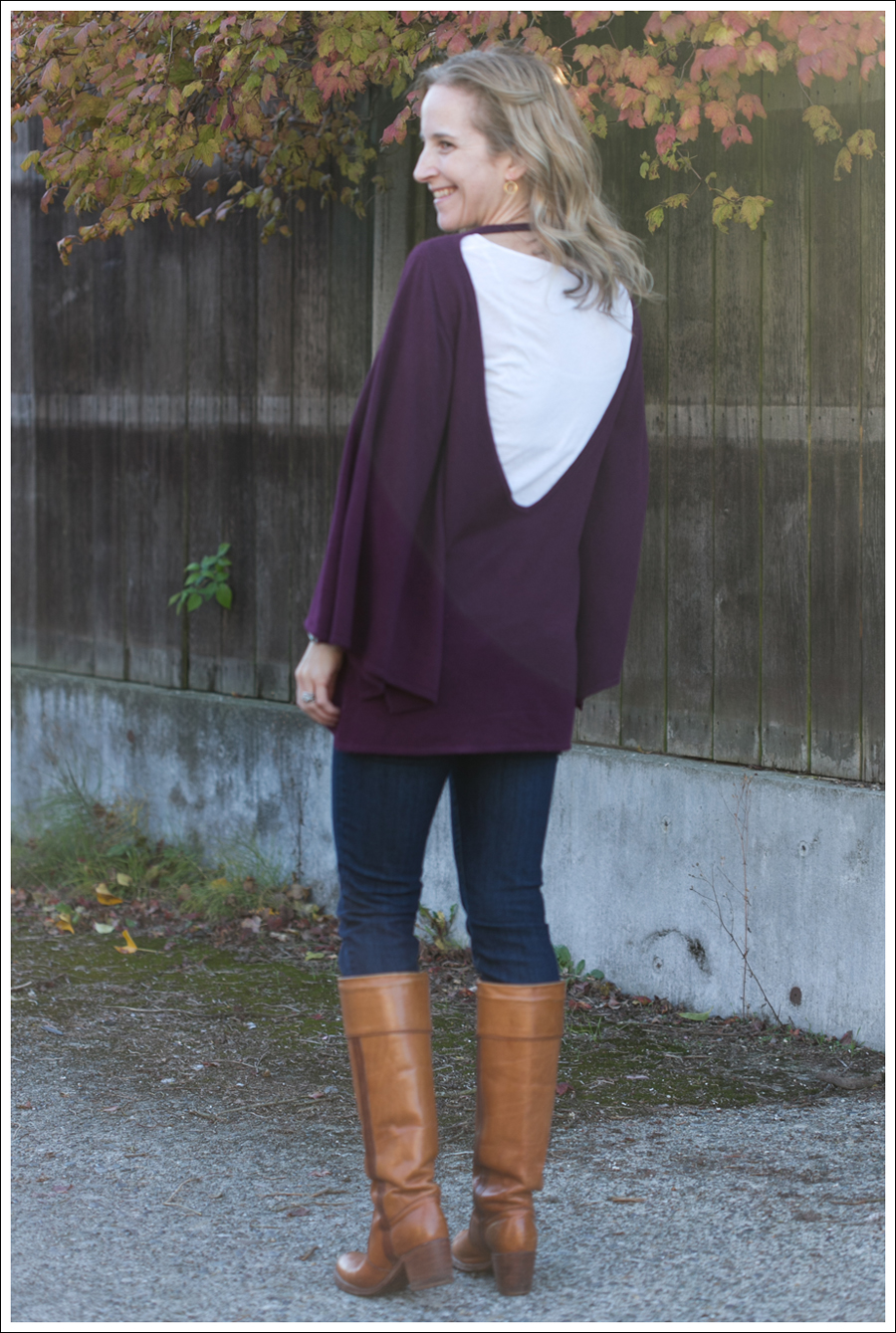 Blog Rachel Pally Cashmere Cape AG the Tights Vintage Frye Boots-5