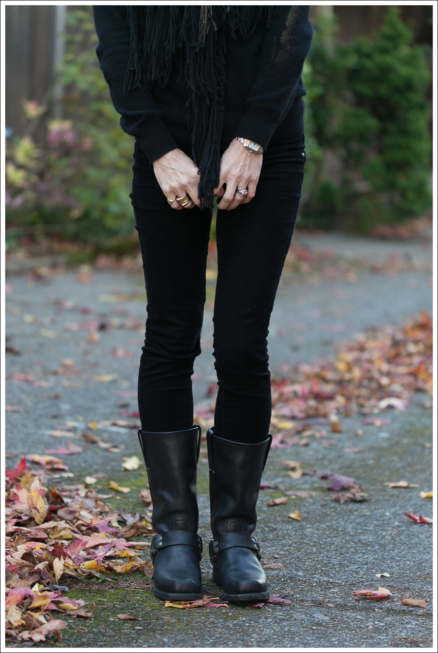 blog Club Monaco Cashmere Blank NYC Skinny Cords Frye Harness Boots-2