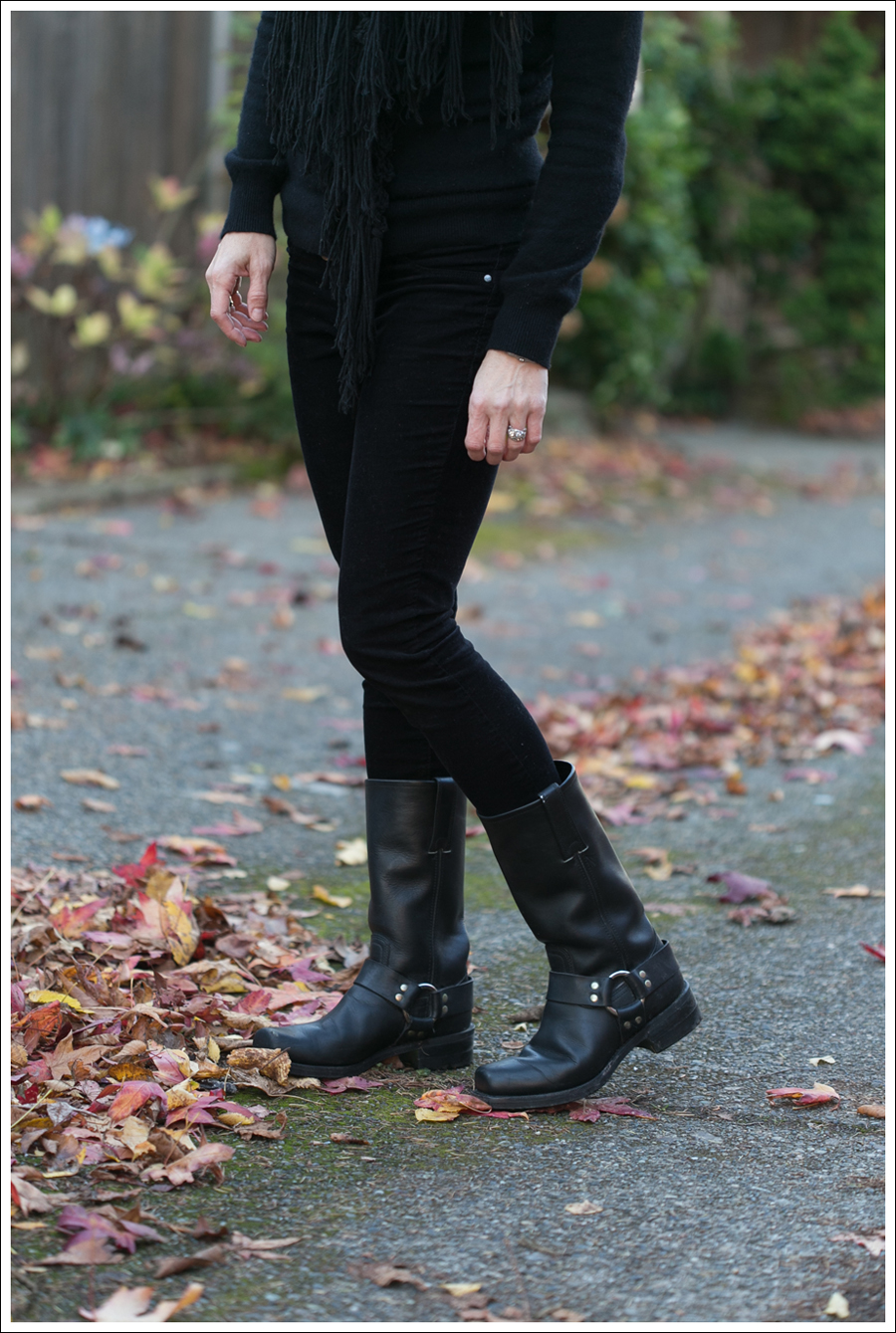 blog Club Monaco Cashmere Blank NYC Skinny Cords Frye Harness Boots-5