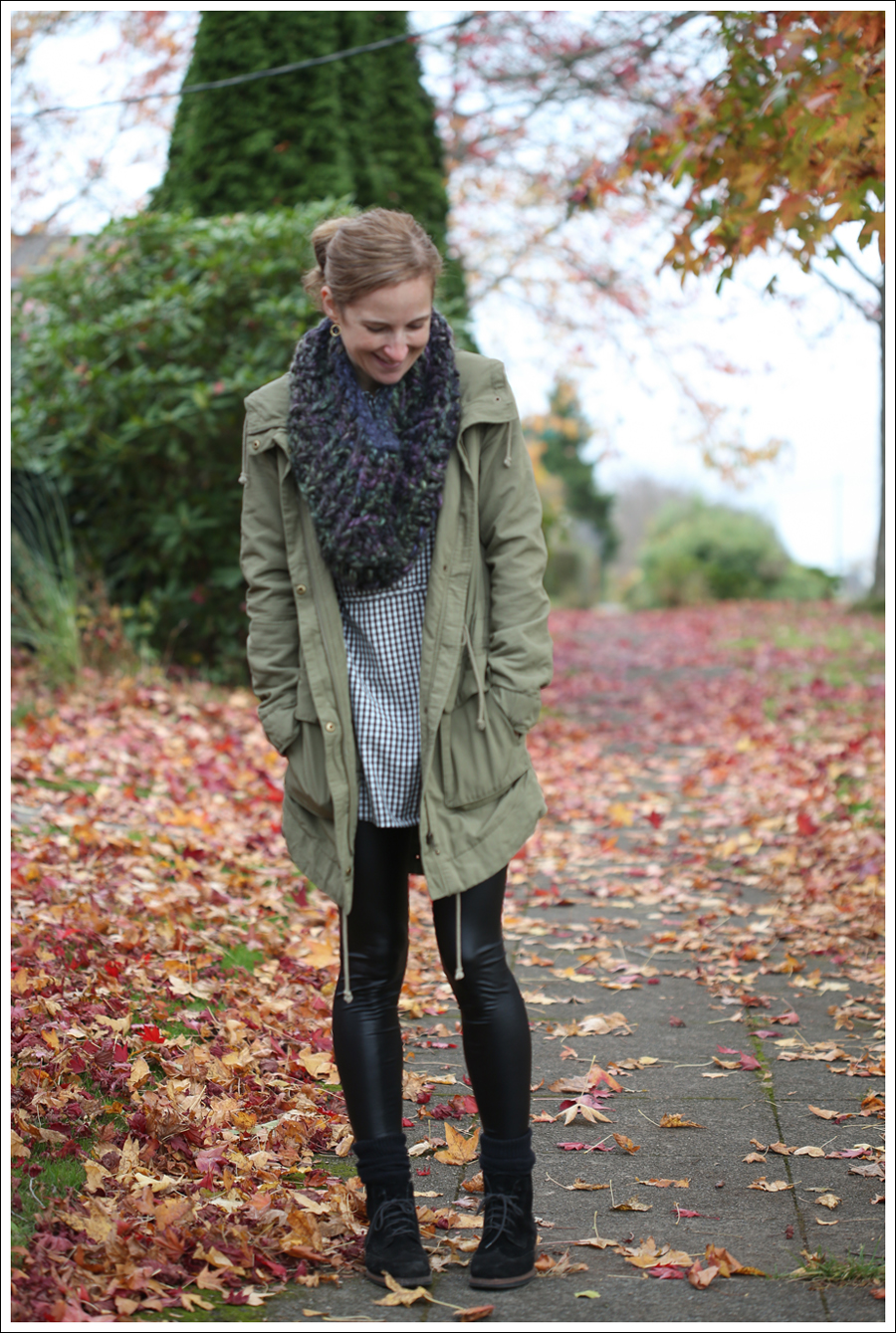 blog Faux Leather Leggings HM Parka Booties-1