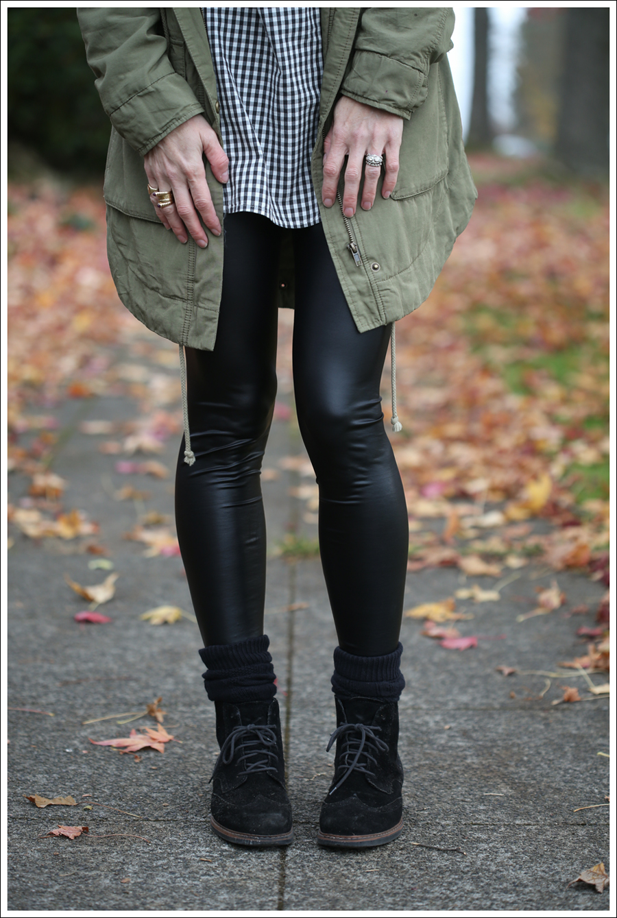 blog Faux Leather Leggings HM Parka Booties-3