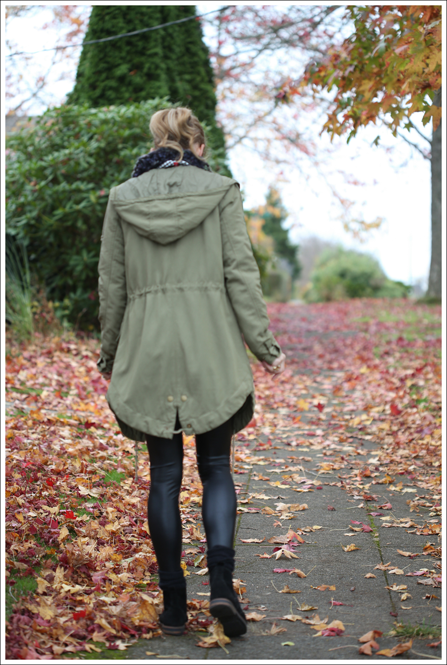 blog Faux Leather Leggings HM Parka Booties-4