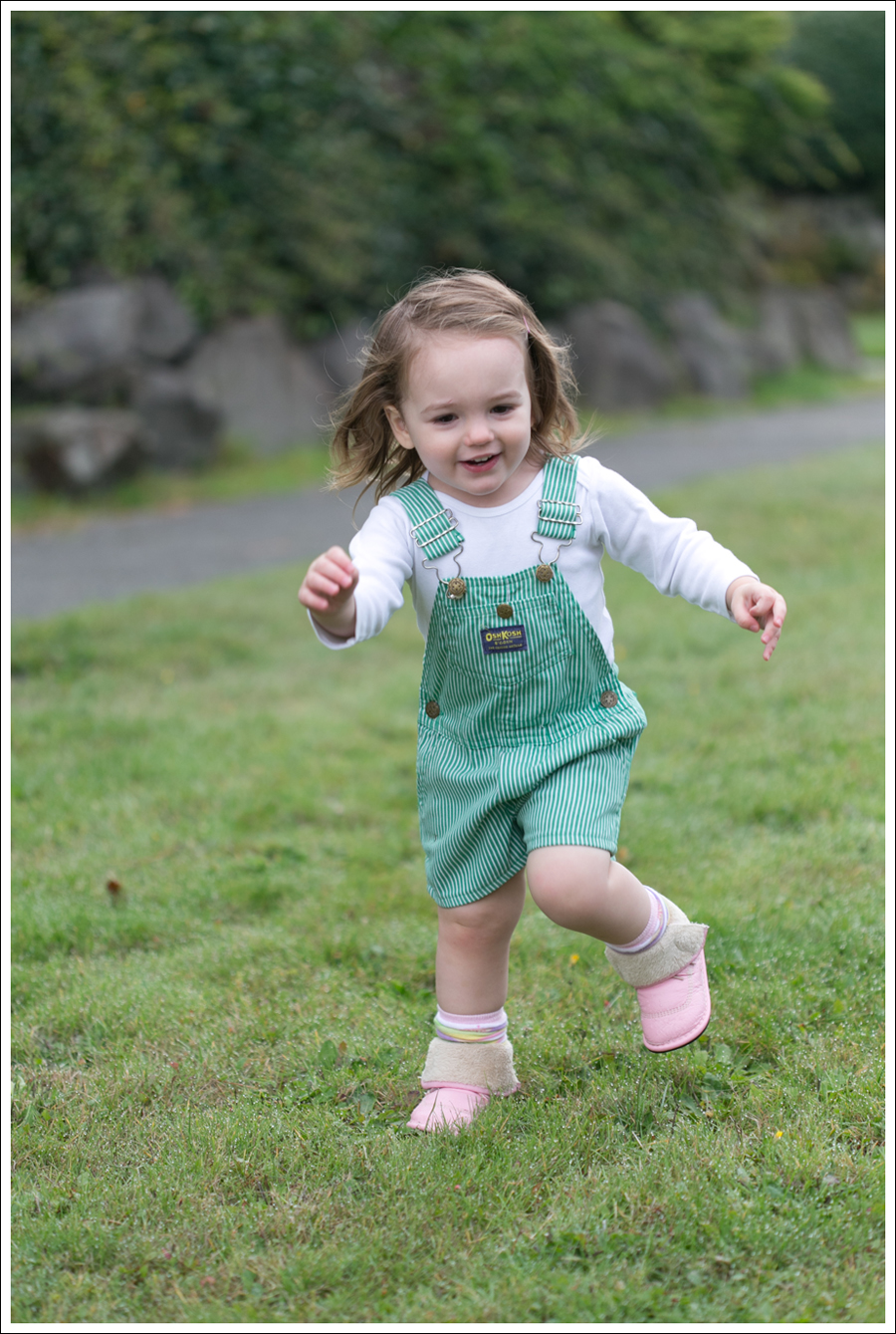 Blog Maya 105 weeks Green Striped Osh Kosh Overalls-3
