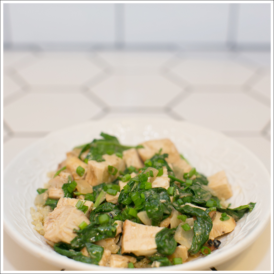 Blog Chicken With Sauteed Spinach and Peanut Sauce-1