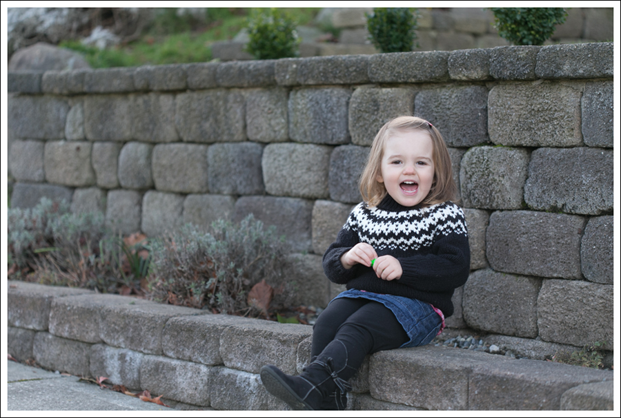 blog Maya 111 weeks Fair Isle Sweater Skirt boots Laugh-5