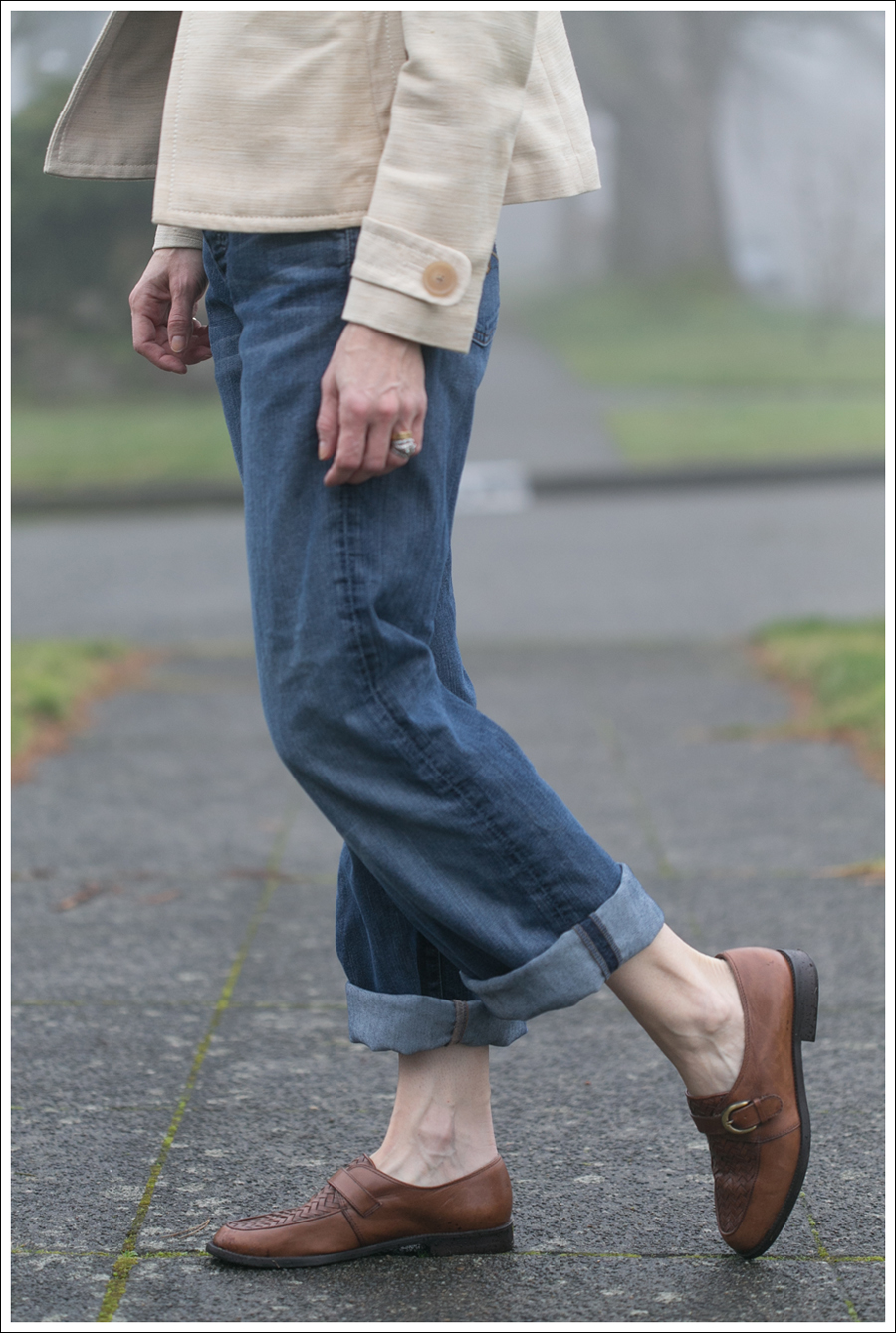 Blog 7FAM Boyfriend Zara Striped Tee Timberland Loafers-6
