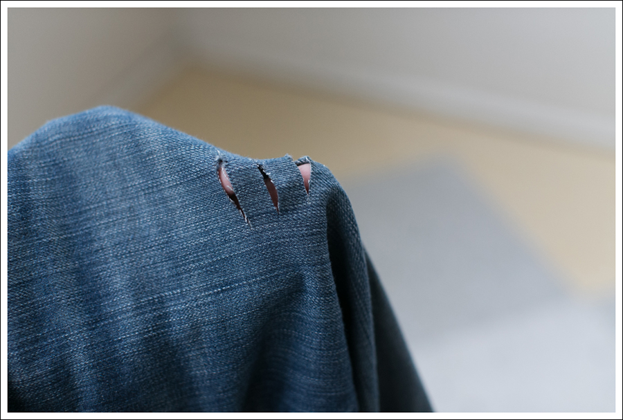 Blog DIY Destroyed Denim Jeans With Strings Attached-2