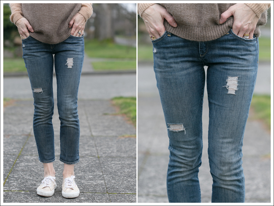 Blog DIY Destroyed Denim Jeans With Strings Attached-6
