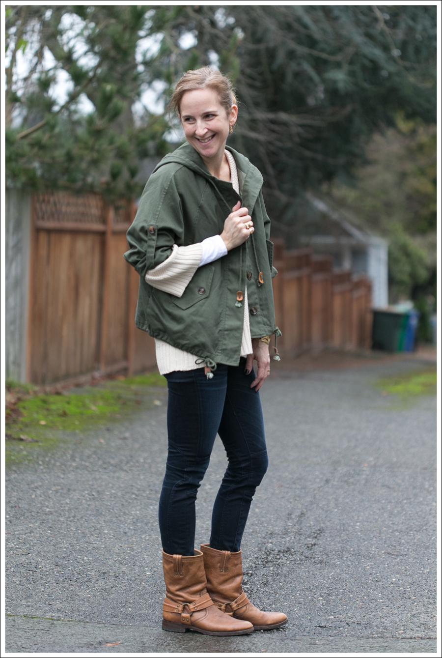 Blog StyleMint Jacket Zara Sweater J Brand Moto Frye Boots-4