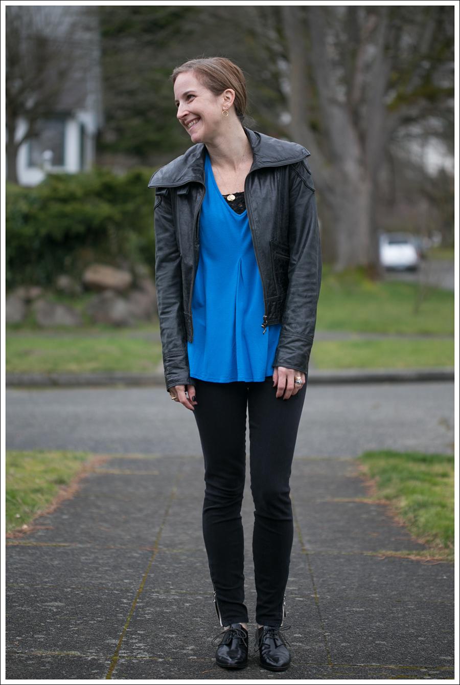 Blog Doma Leather Jacket Zara Joes Jeans Zipper Pura Lopez Oxfords-1