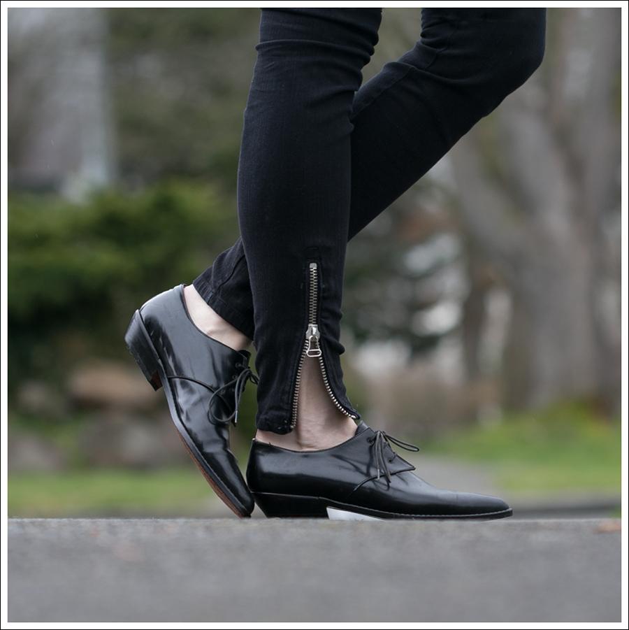 Blog Doma Leather Jacket Zara Joes Jeans Zipper Pura Lopez Oxfords-4