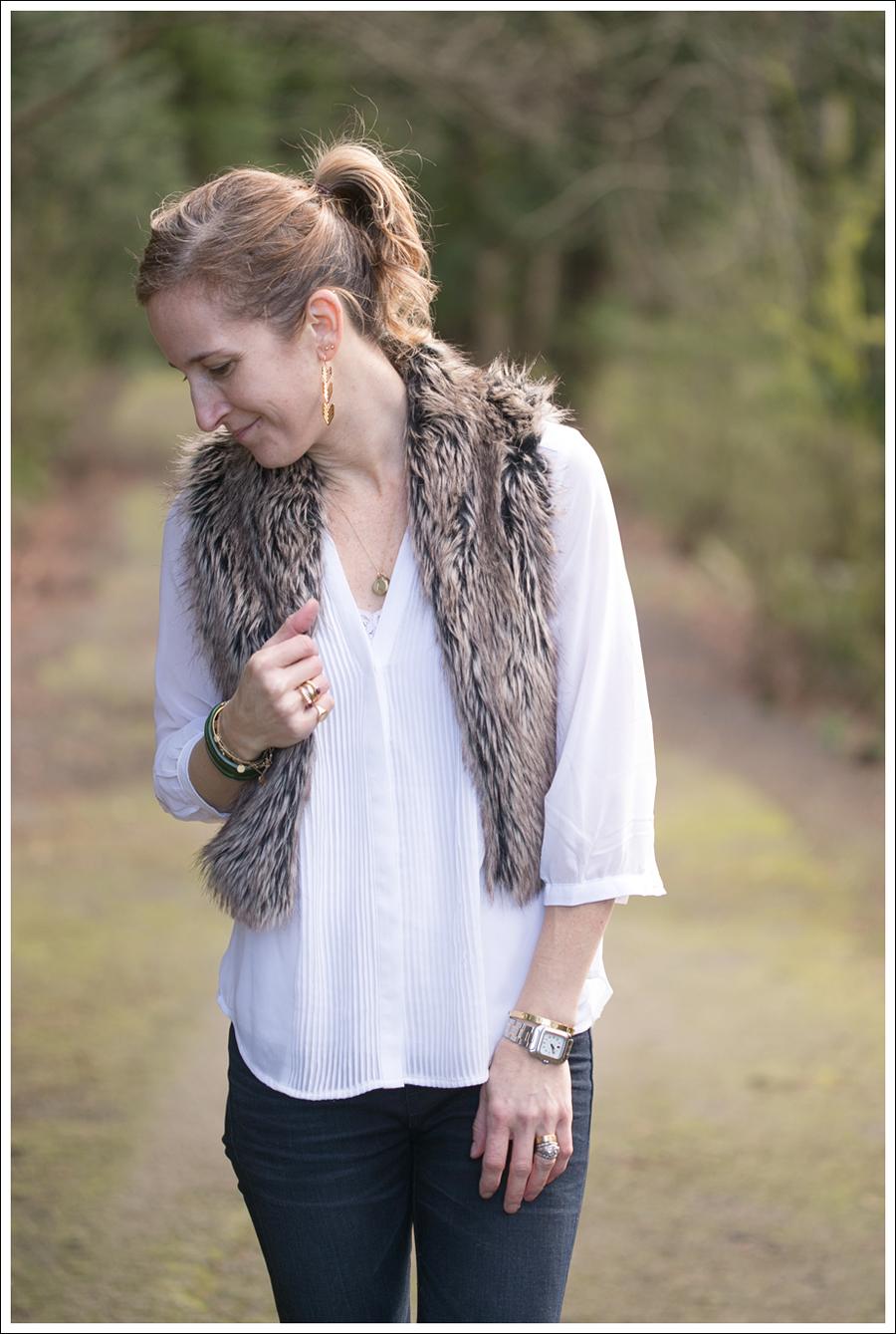 Blog Faux Fur Vest HM Top J Brand Moto Jeans StyleMint boots-4