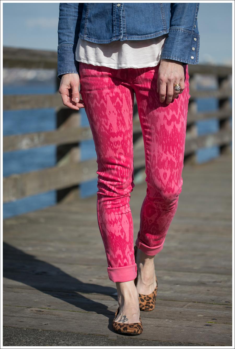 Blog Gap Shirt Black Orchid Ikat Jeans Leopard Flats-2