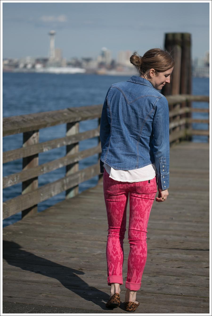 Blog Gap Shirt Black Orchid Ikat Jeans Leopard Flats-3
