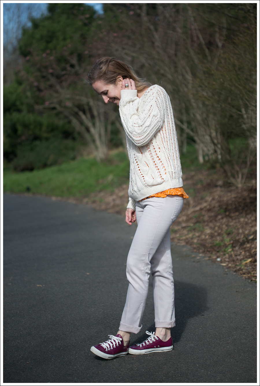 Blog HM Sweater Mother Rascal Cuff Jeans Converse-3