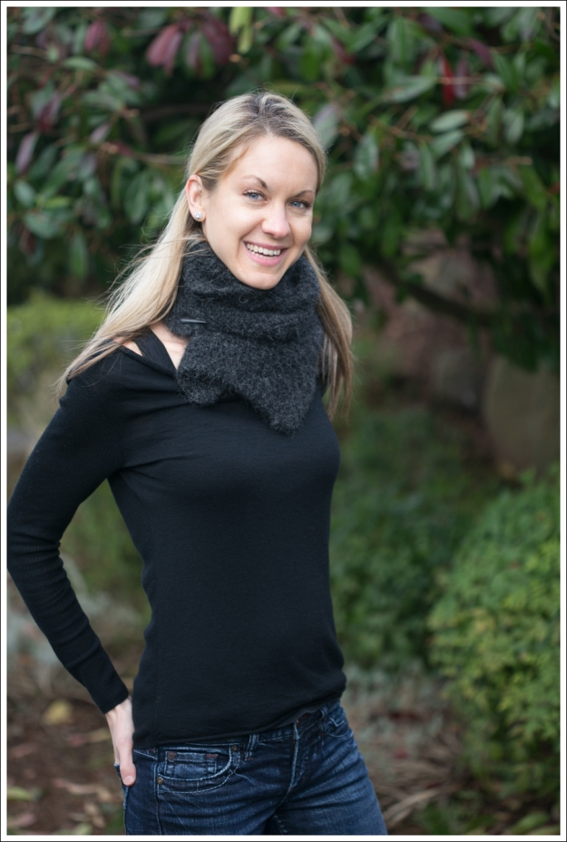 Blog Black Outfit with Grey Scarf-1