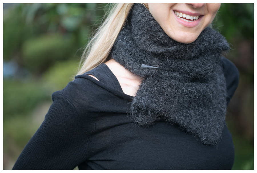 Blog Black Outfit with Grey Scarf-2