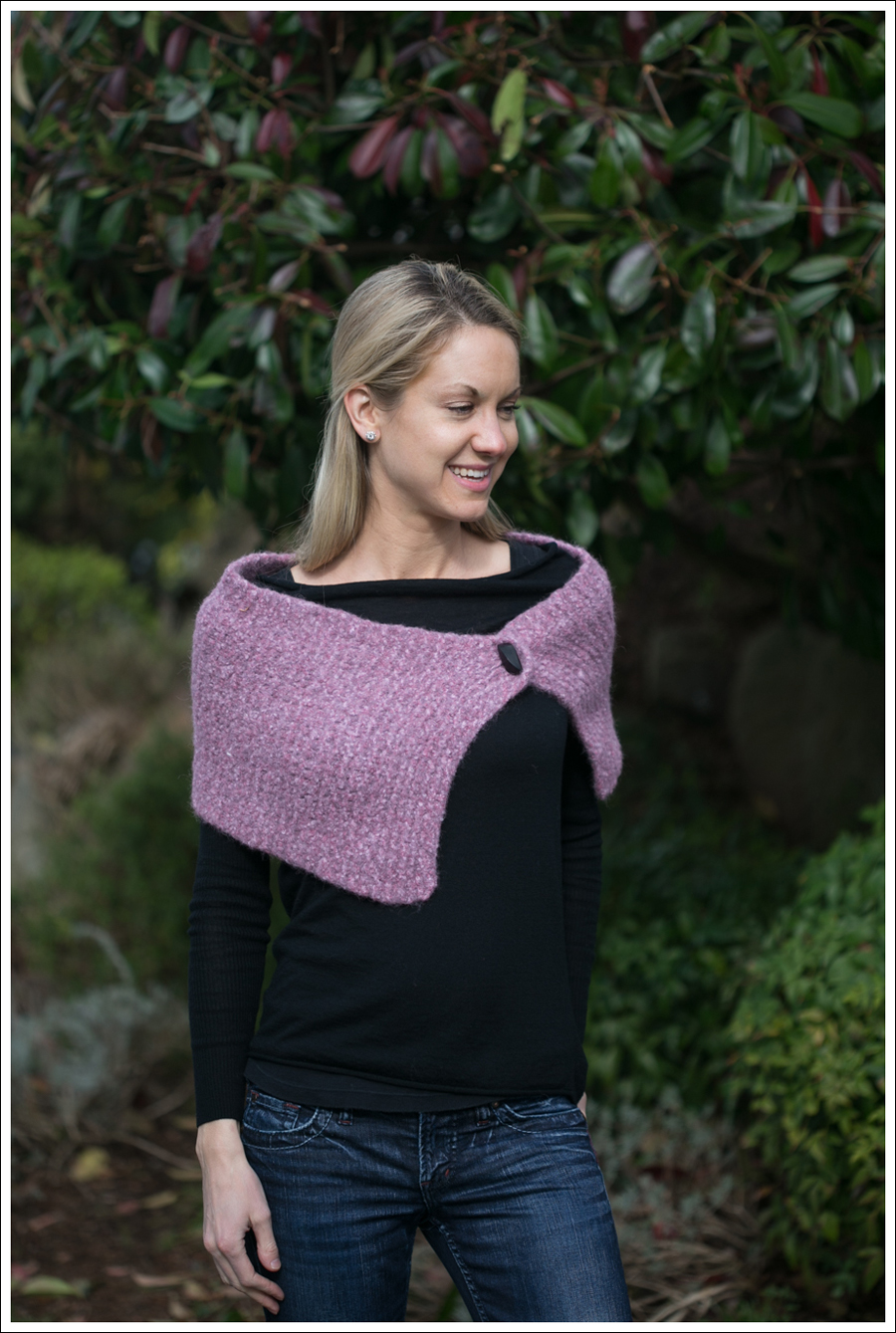 Blog Black Outfit with Pink Scarf-4