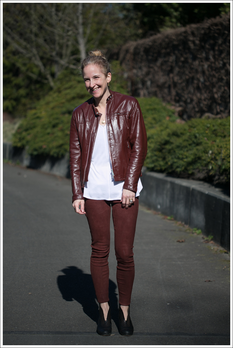 Blog Vintage Leather Jacket Lanston Tee True Religion Suede Skinny Frye Booties-1
