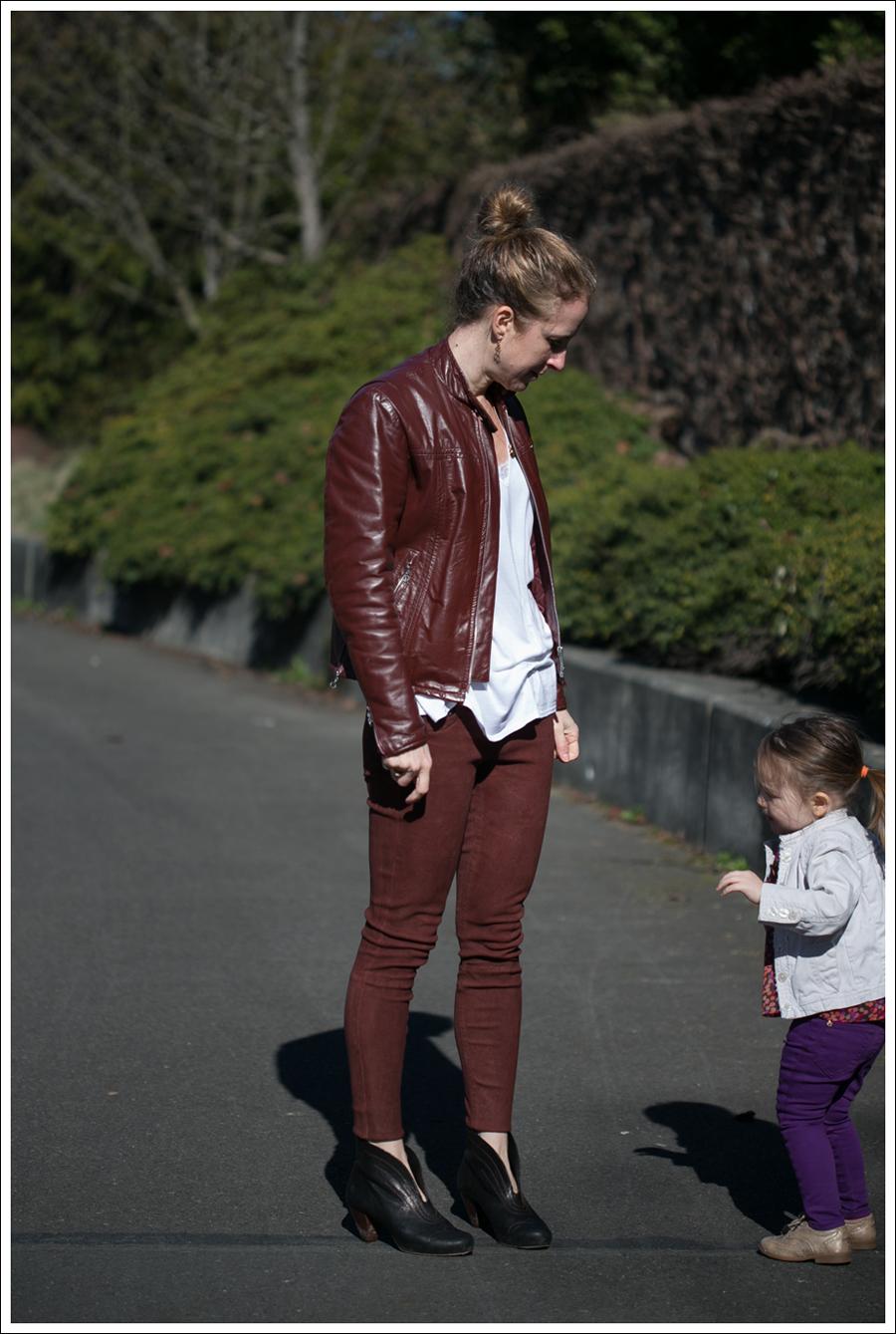 Blog Vintage Leather Jacket Lanston Tee True Religion Suede Skinny Frye Booties-13