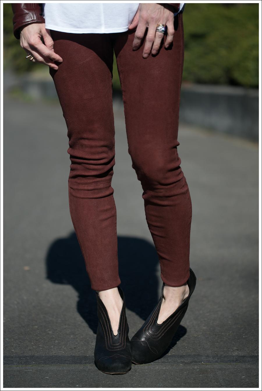 Blog Vintage Leather Jacket Lanston Tee True Religion Suede Skinny Frye Booties-3
