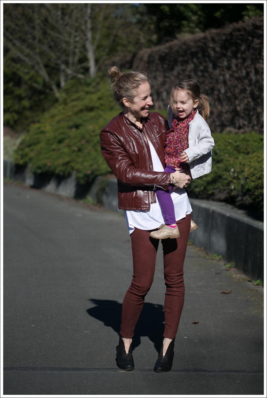 Blog Vintage Leather Jacket Lanston Tee True Religion Suede Skinny Frye Booties-5