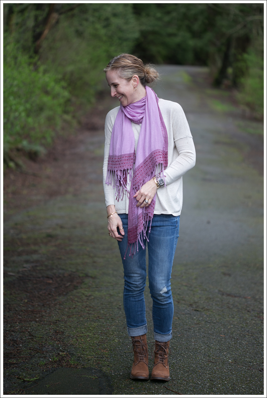 Blog Zara Sweater Vince Destroyed Skinnies Lace Up Boots-1