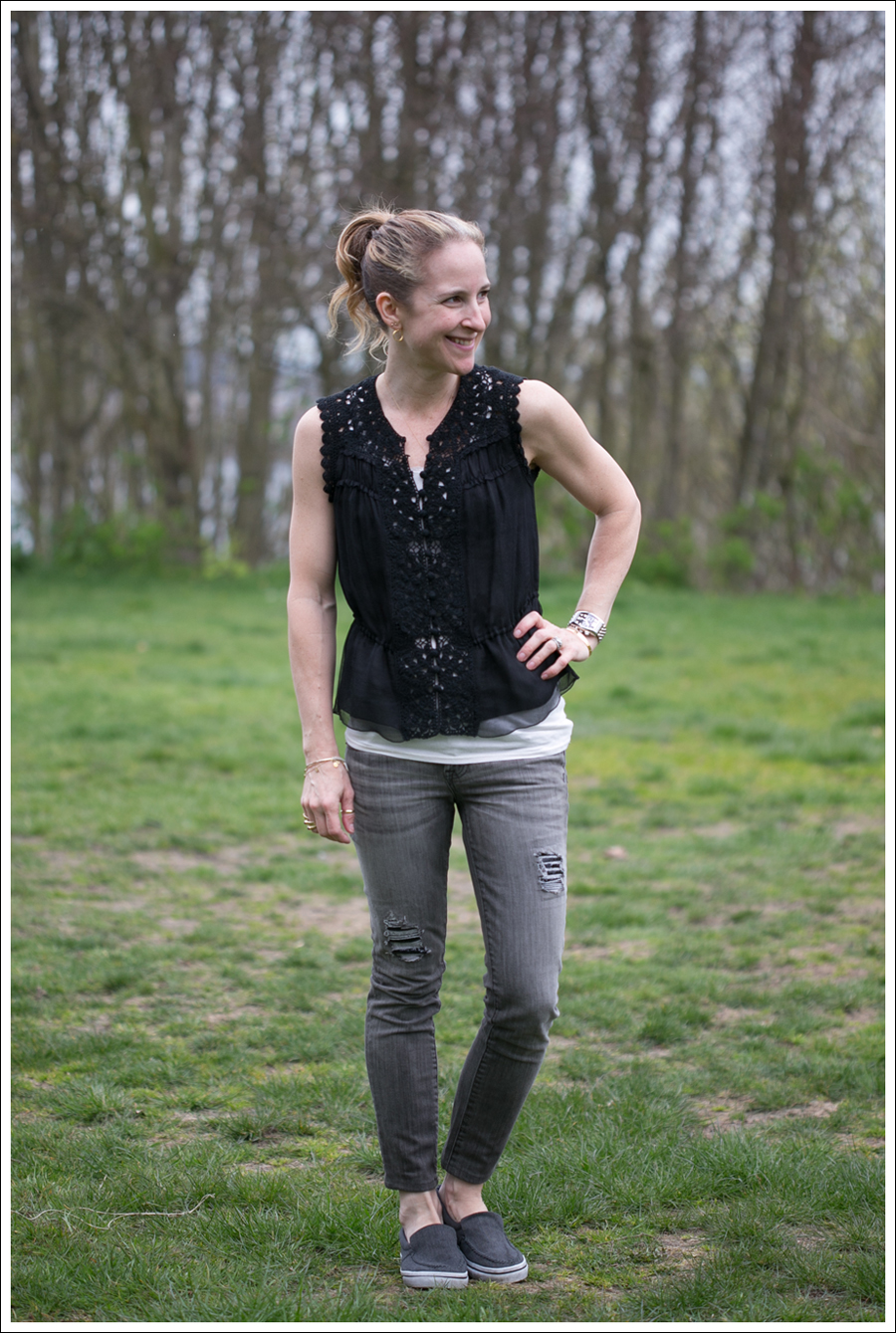 Blog BCBG Black Crochet Top Genetic Denim Destroyed Shane Airwalk-1
