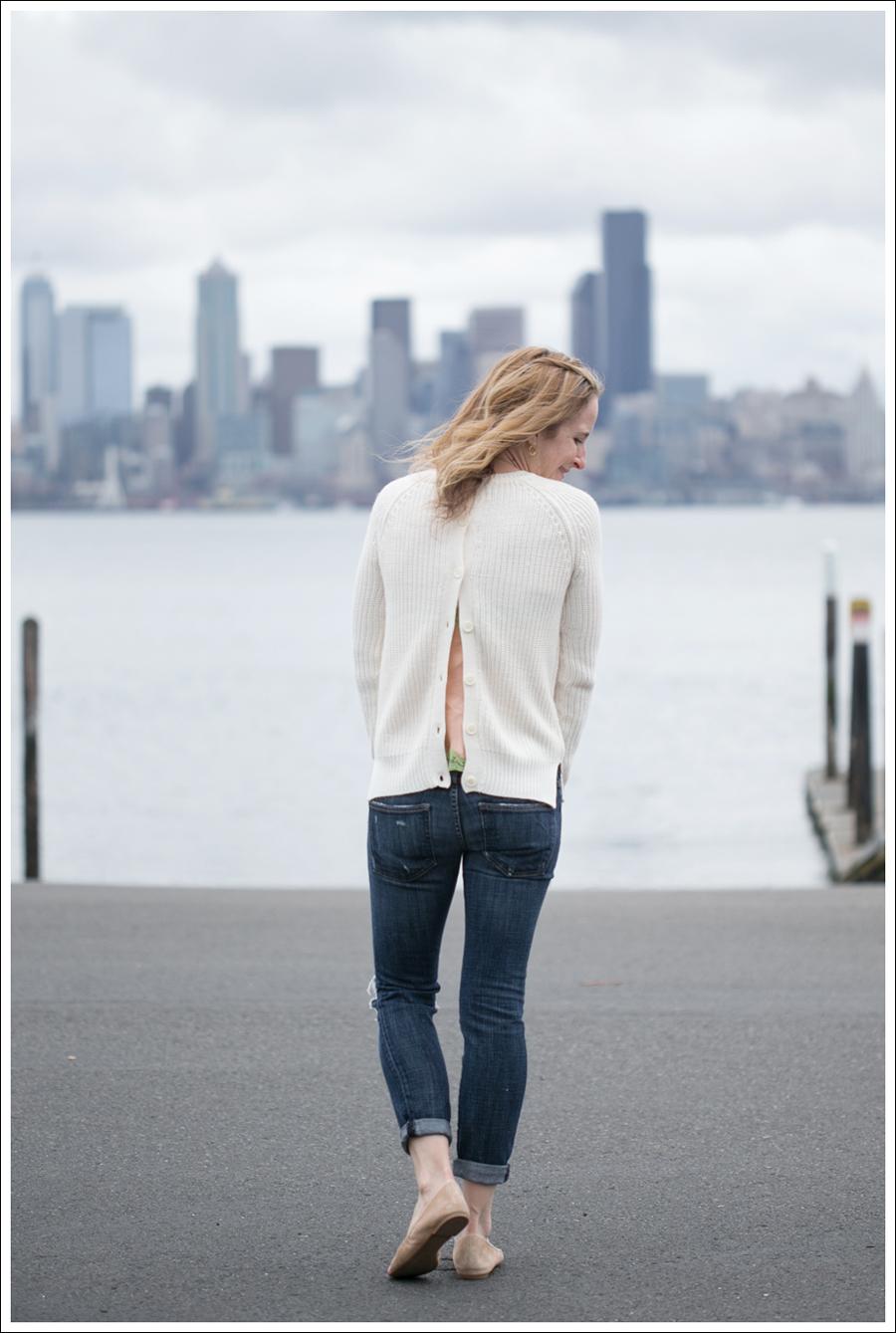 Blog Zara Button Back Sweater Destroyed Current Elliott Crop Skinny Leifnotes Flats-4