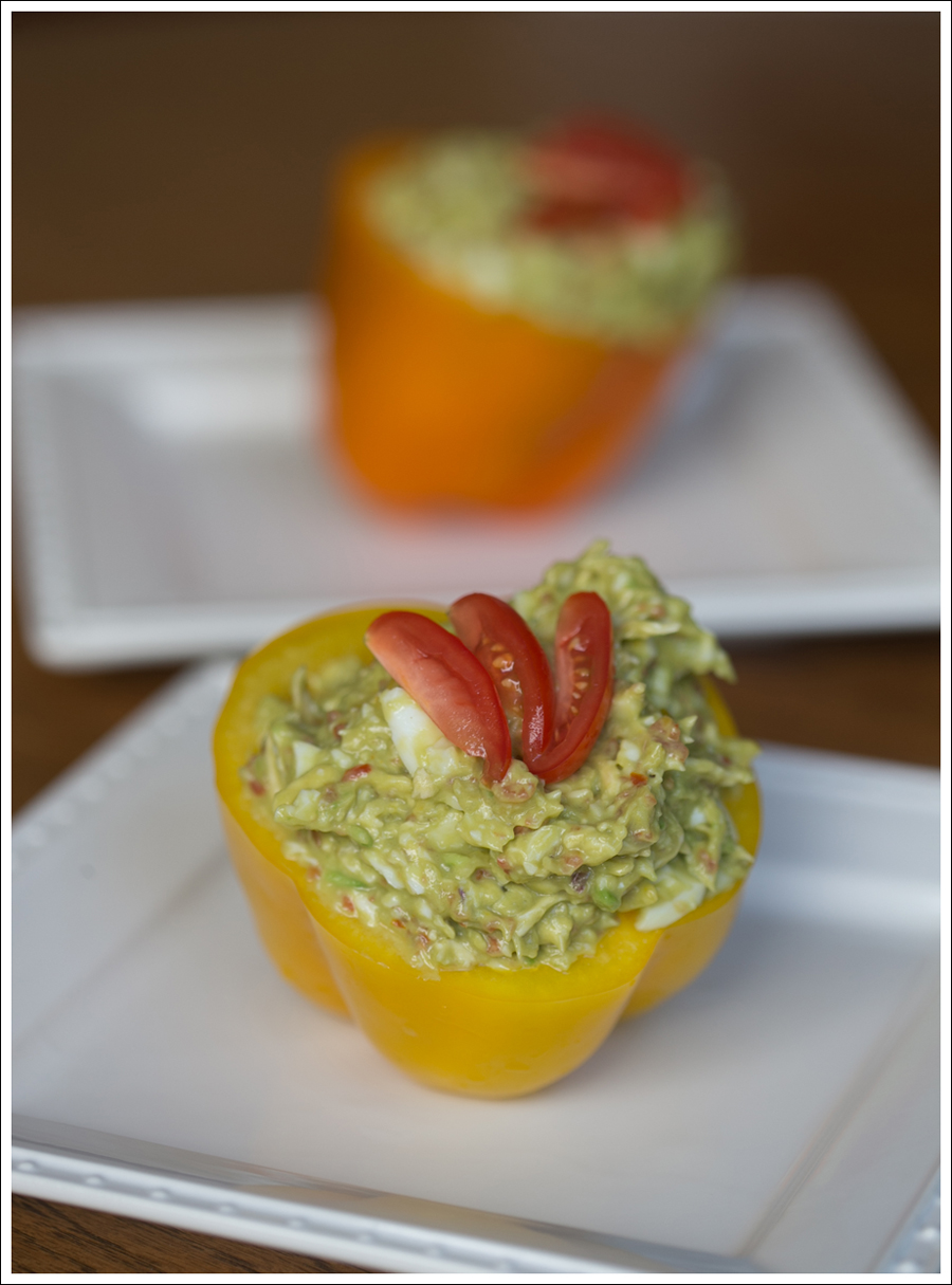 Blog Chicken Avocado Egg Salad In Bell Pepper Cup Paleo Whole30-1