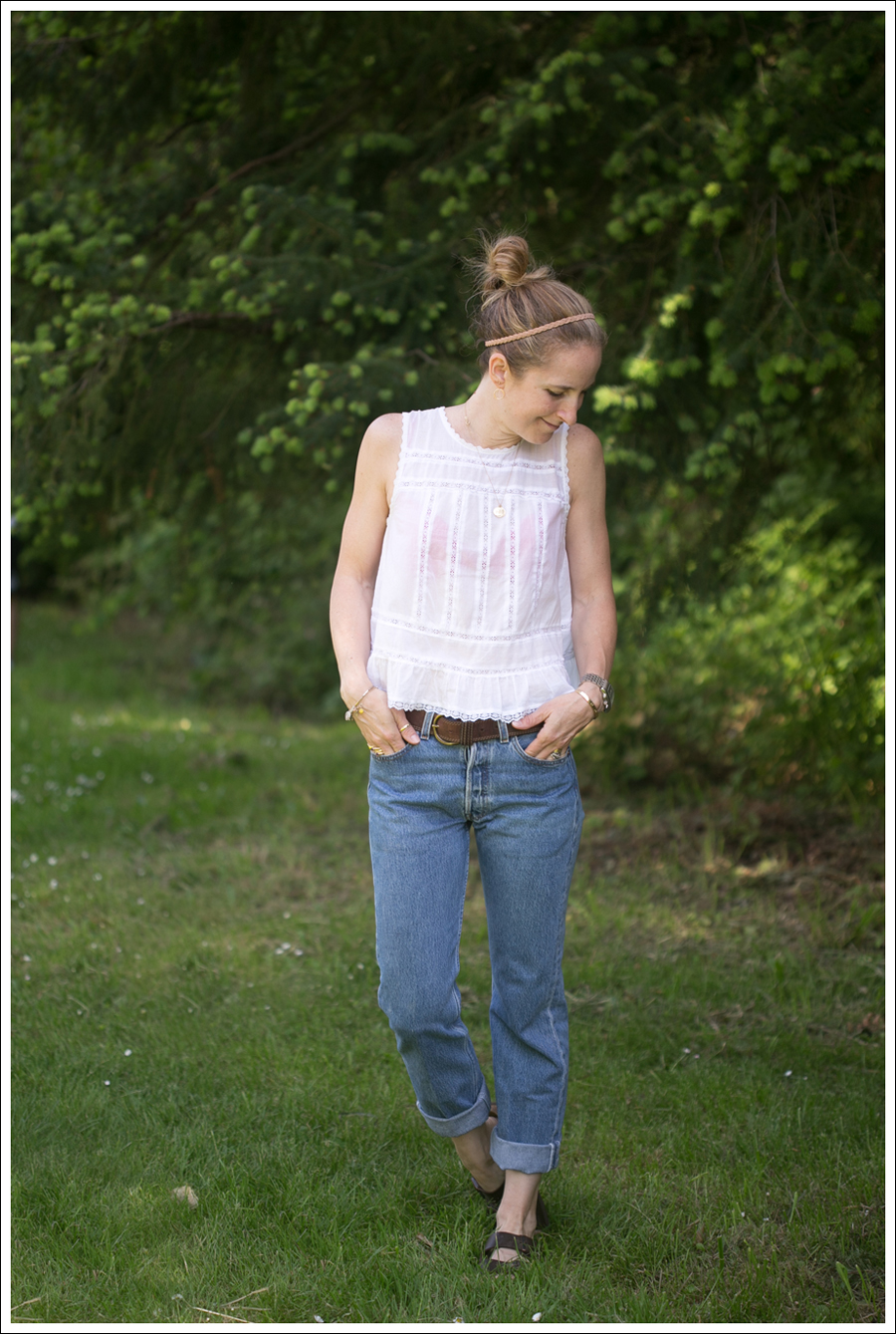 Blog Free People Top Vintage Levis 501 Birkenstocks-1