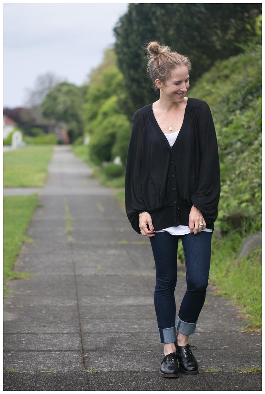 Blog Leifsdottir Cardigan J Brand High Rise Skinny Dr Martens-1