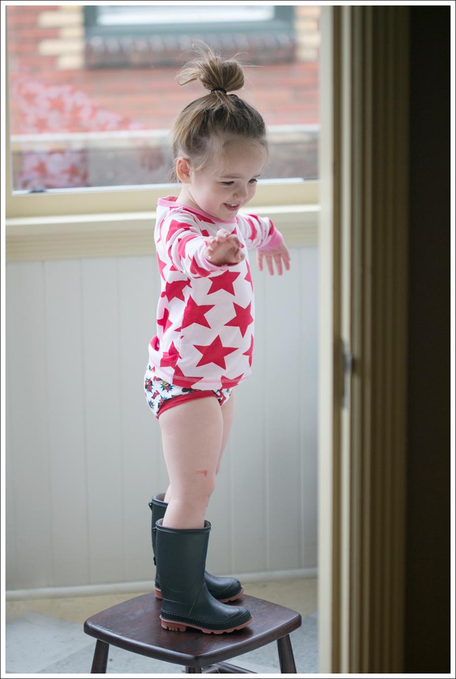 Blog Maya 134 Weeks Hanna Andersson Dress Rain boots-1