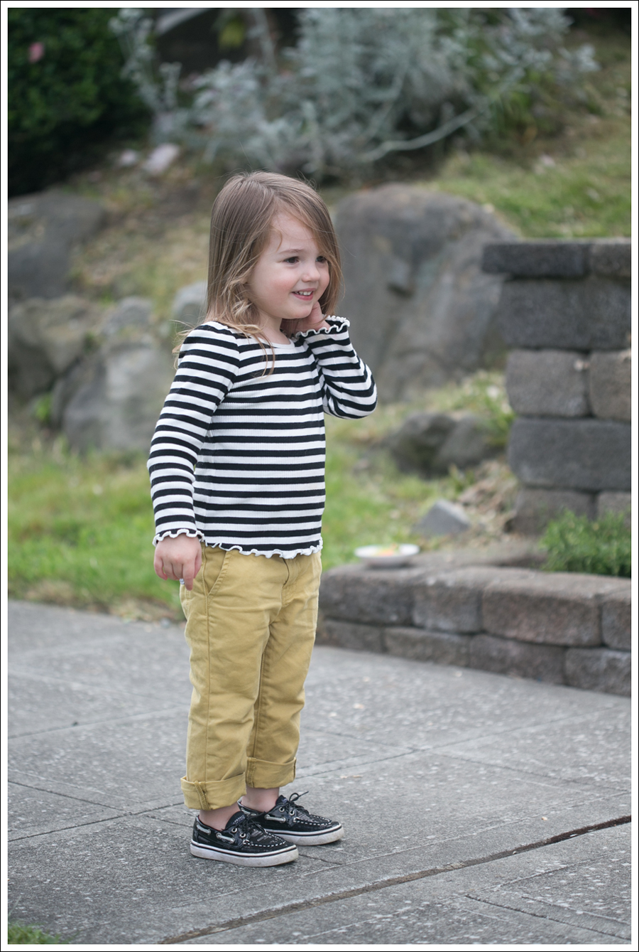 Blog Maya 137 Weeks BW Gap Yellow Sevens Sperry-2