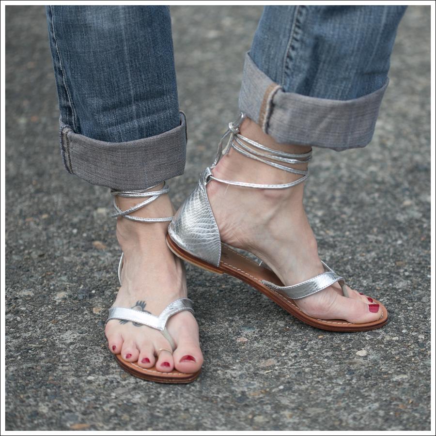 Blog 3 Dots Cowl Neck Destroyed 7FAM Mystique Silver Wrap Sandals-5