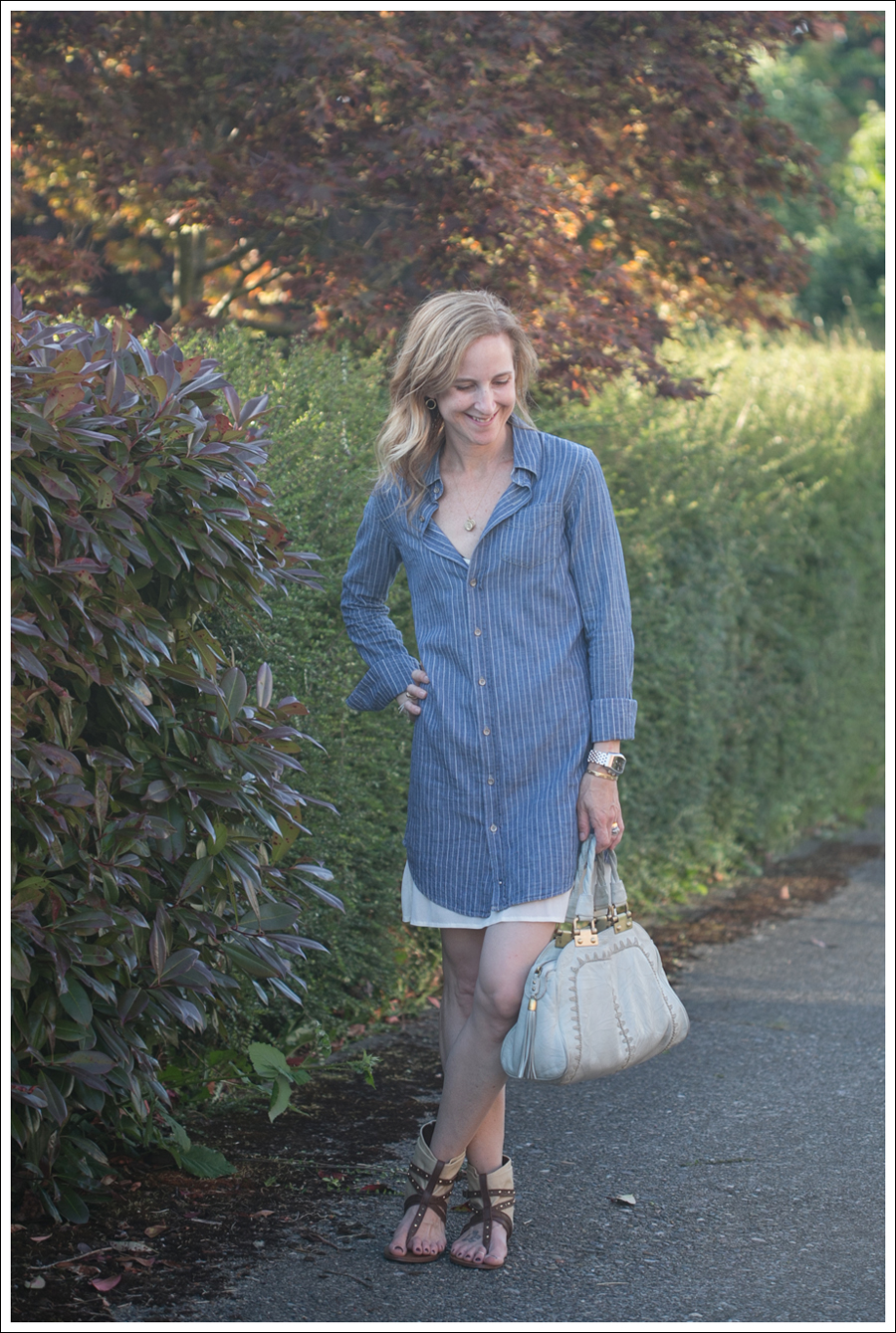 Blog Joes Jeans Shirtdress Steve Madden Genevvaa Rafe Purse-1