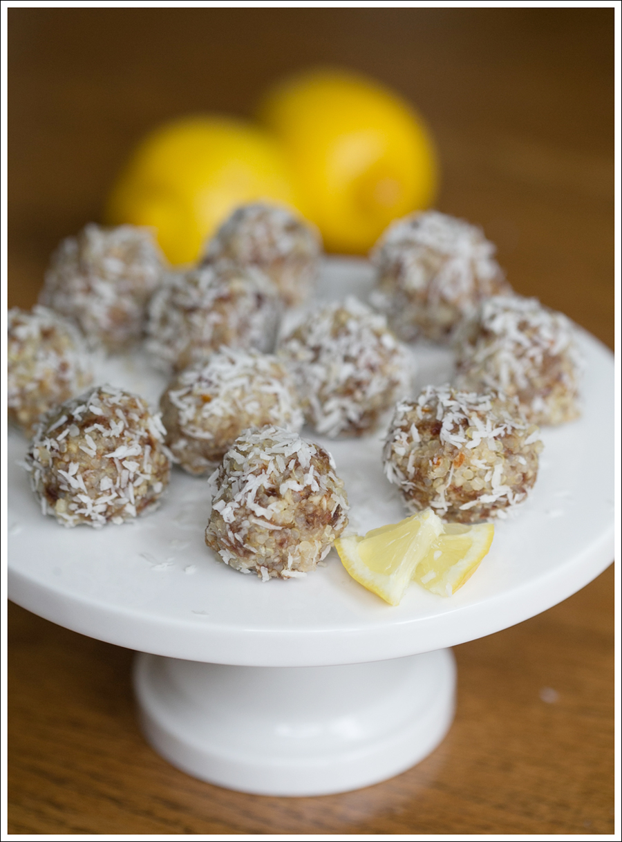 Blog No Bake Gluten Free Lemon Coconut Quinoa Balls -1