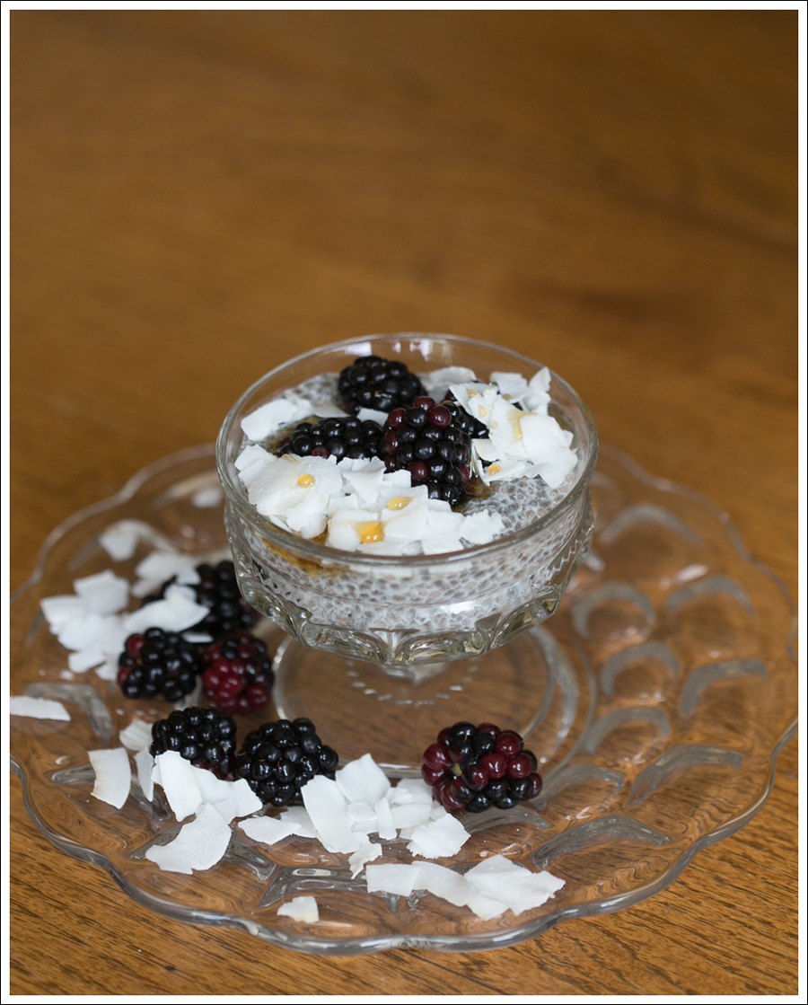 Blog Paleo Chia Pudding with Blackberries Coconut Shavings-1