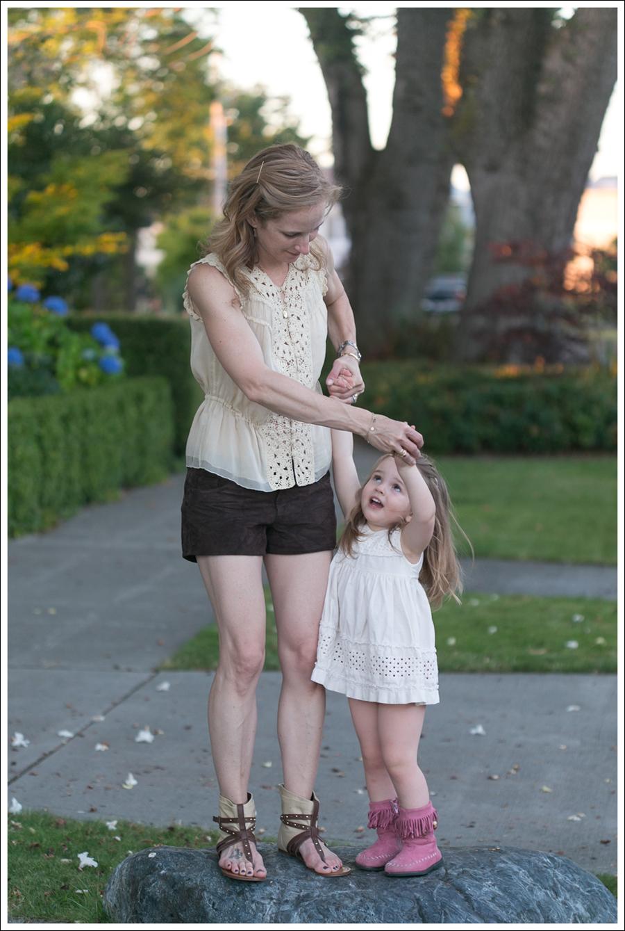 Blog BCBGMaxAzria Silk Top Blank NYC Leather Suede Shorts Steve Madden Ash Sandals-15