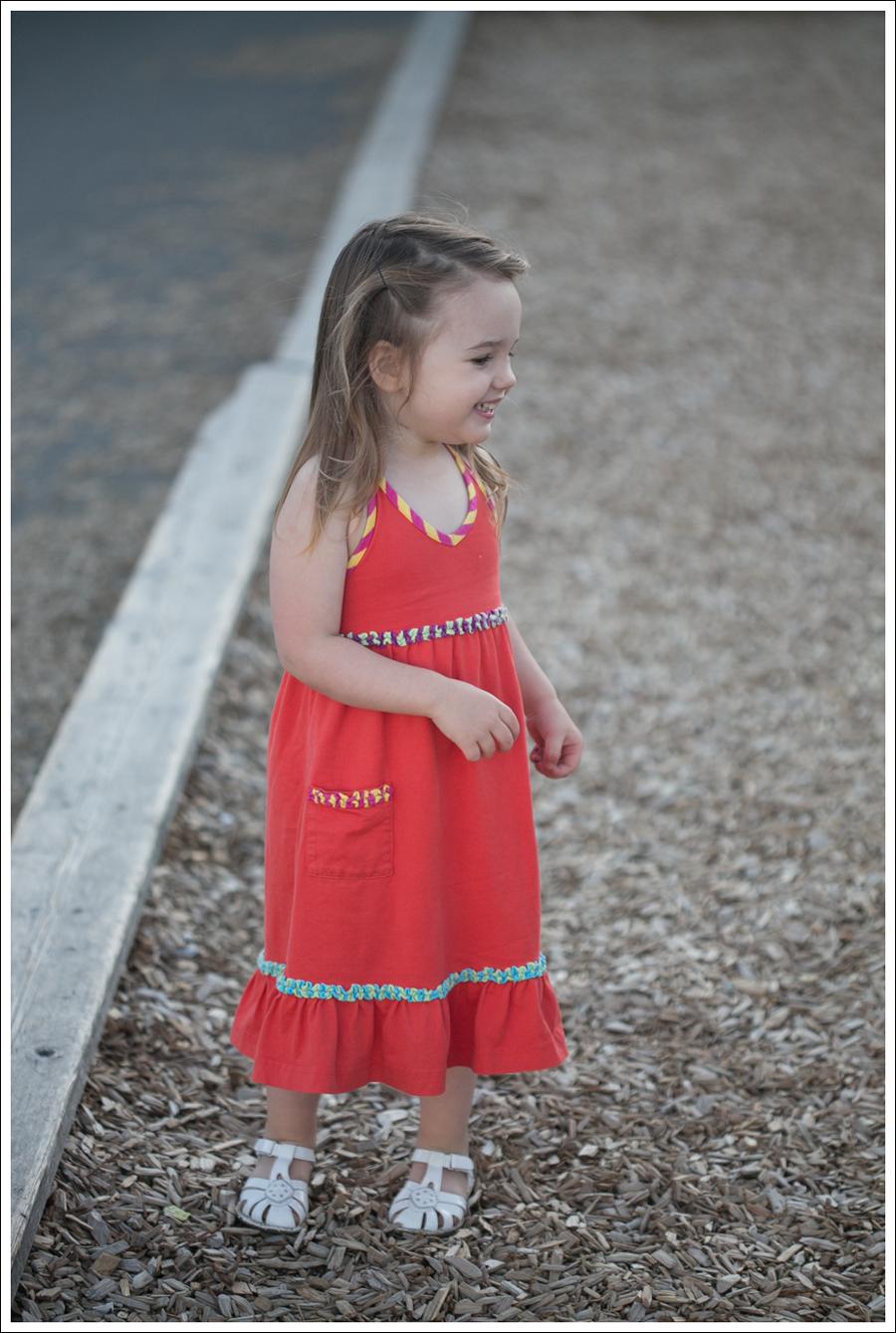 Blog Hanna Andersson Orange Halter Dress Stride Rite White Sandals-2